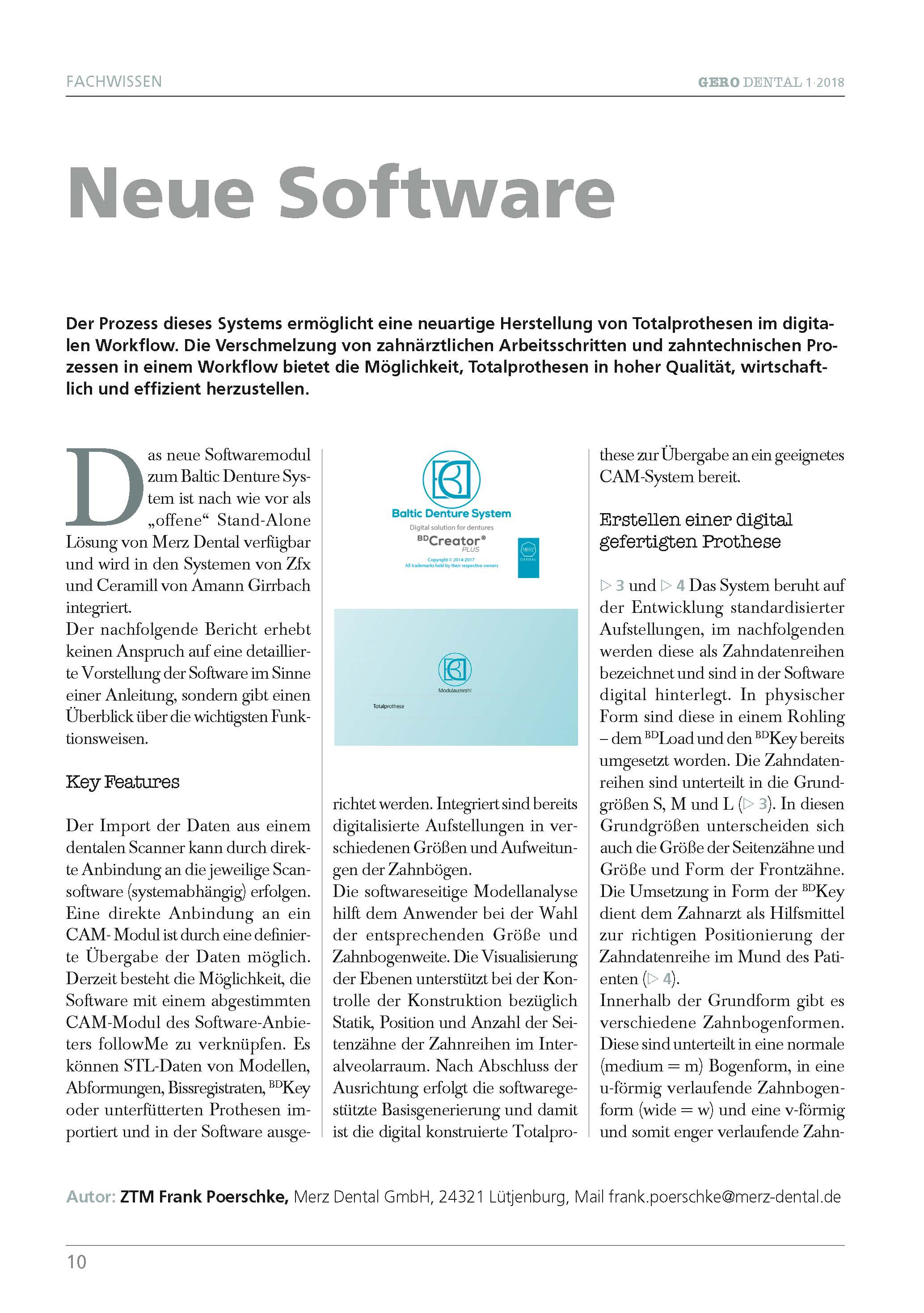 "download image - GERO DENTAL 1/2018: ZTM Frank Poerschke – ""Neue Software"""